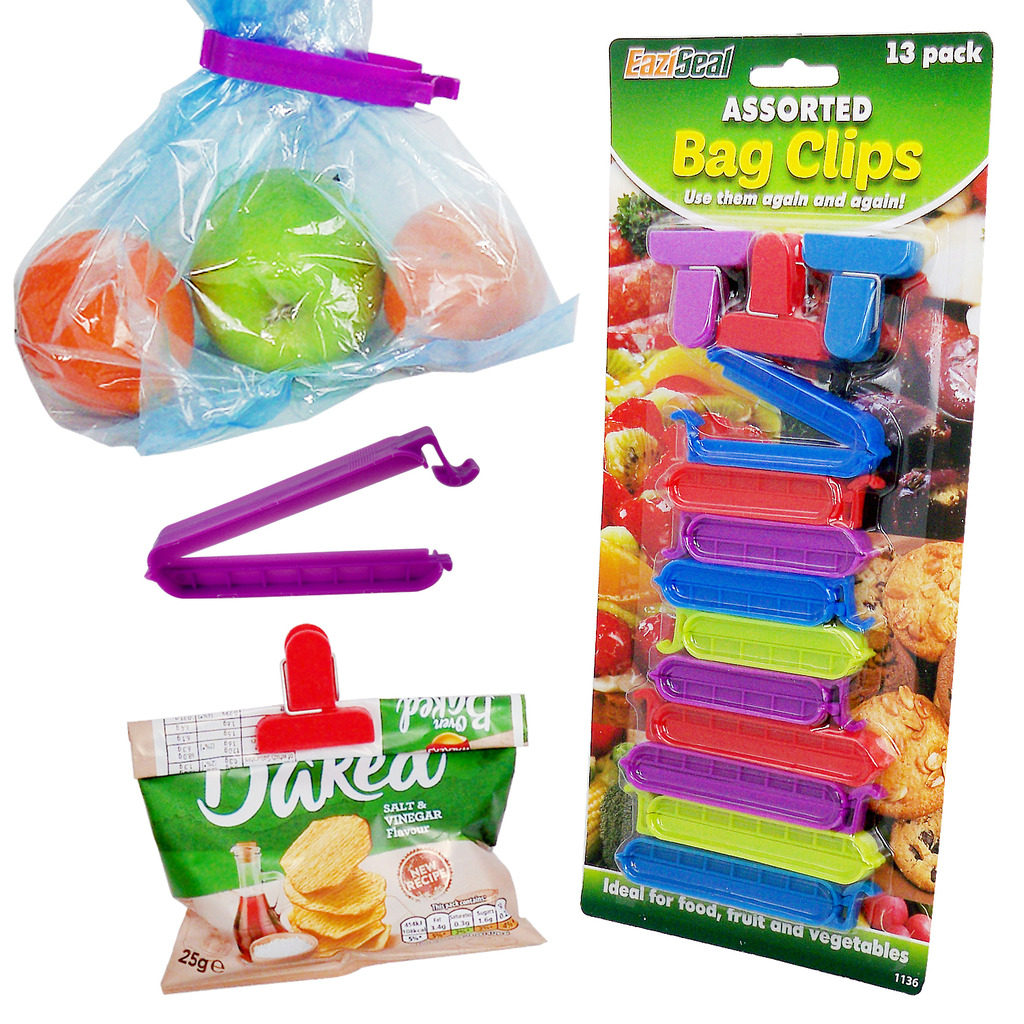 Other Food & Kitchen Storage 9 Cereal Crisps Food Bag Sealing Clips Seal Clip Reusable Purple By Anylock
