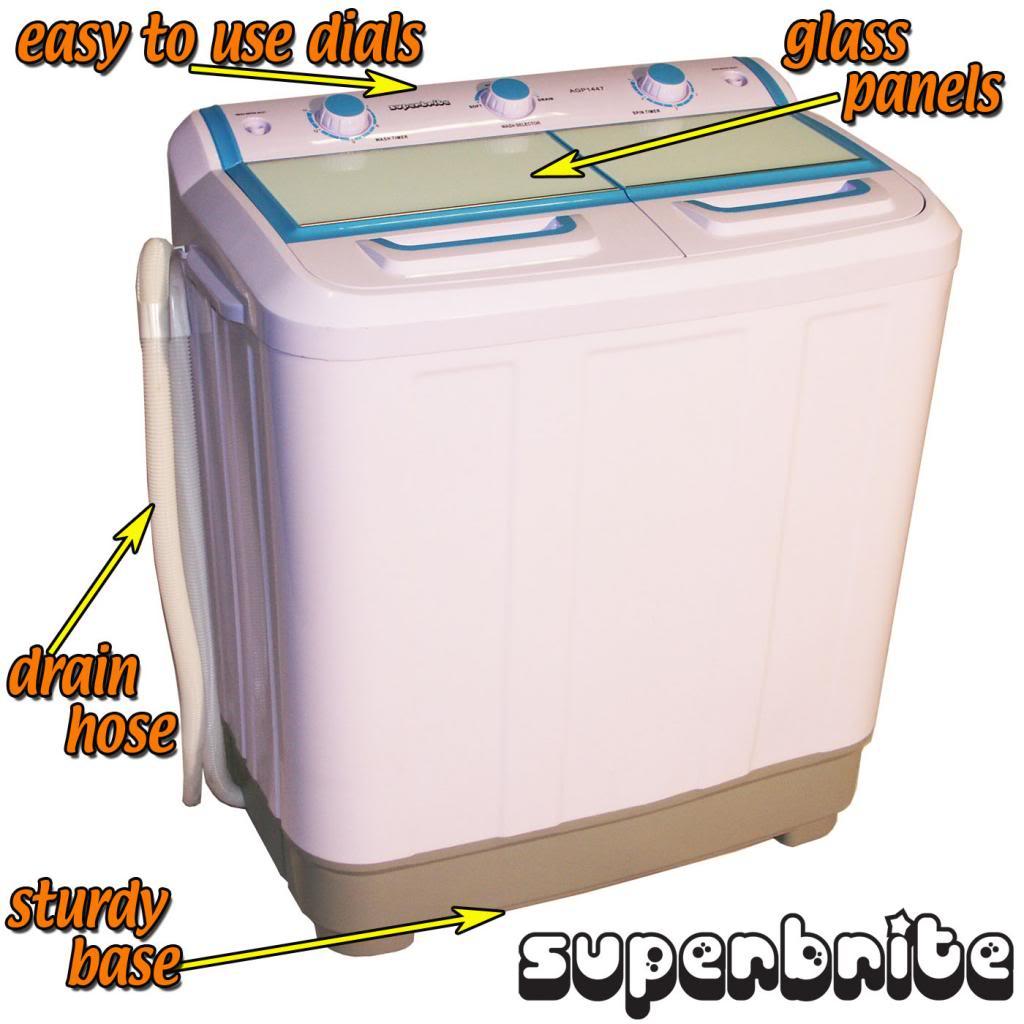 Twin Tub Mini Washing Machine Spin Dryer 7 2kg Portable