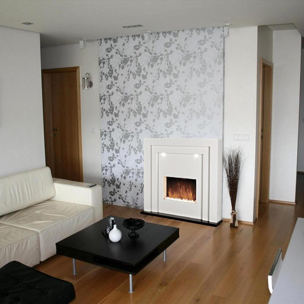 Electric Fireplace Fire Freestanding Flame Effect White Surround Led