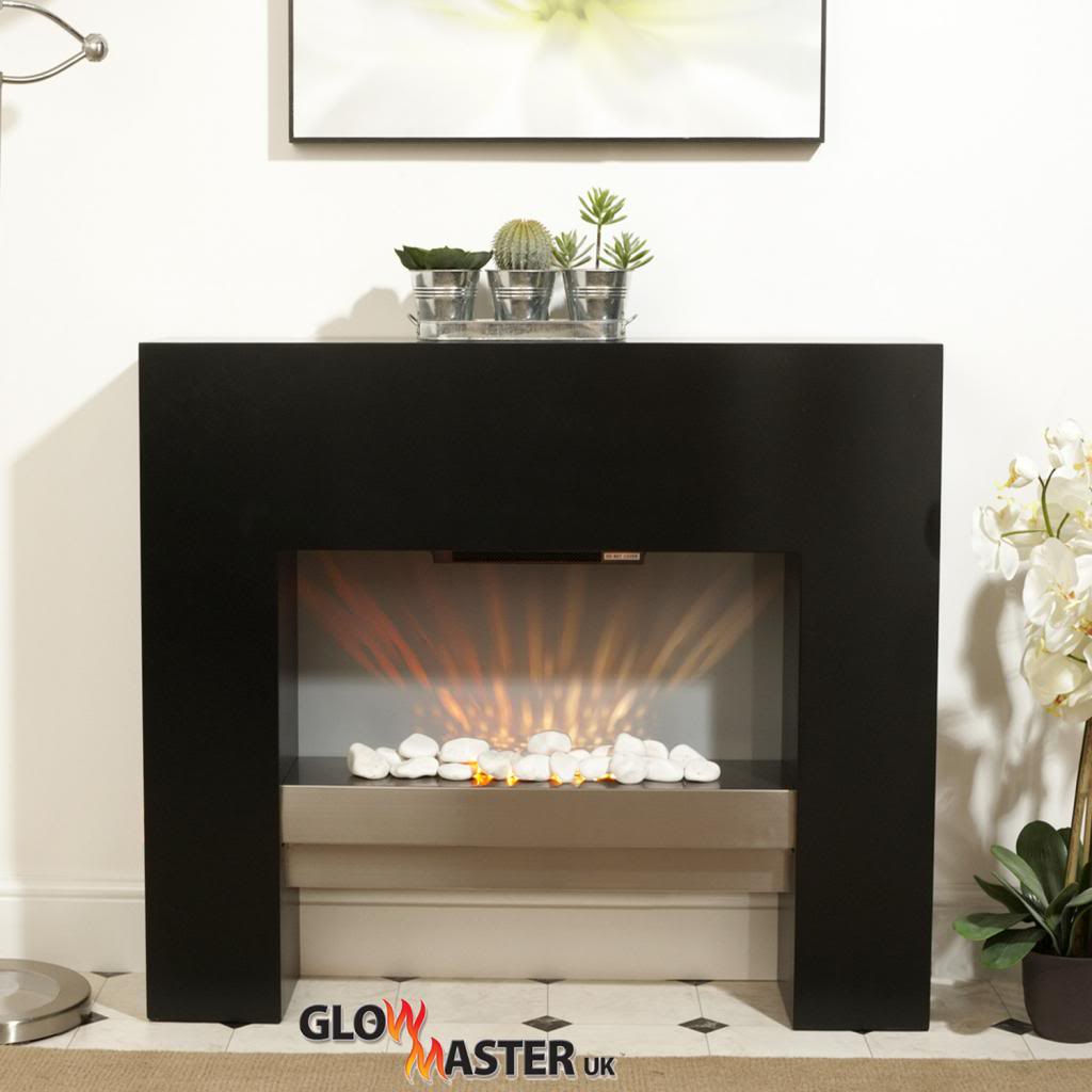 Fire Fireplace Living Room Mantelpiece Black Free Standing Flicker Flame Heater 5055915034768 Ebay