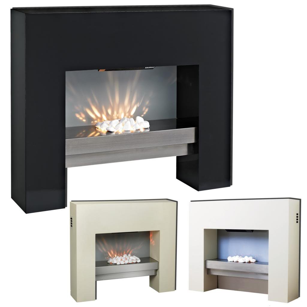 Free Standing Electric Fire Mdf White Surround Fireplace Flicker Living Flame 5055915034744 Ebay