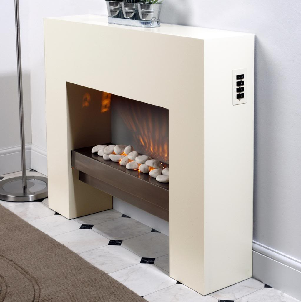 Mdf Fire Surrounds: Free Standing Fire Surround White Electric MDF Fireplace