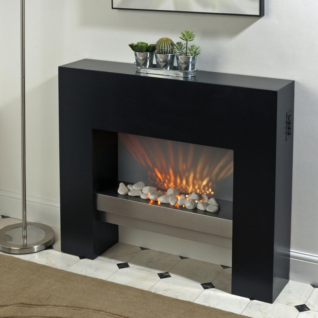 Mdf Fire Surrounds: Free Standing Electric Fire MDF White Surround Fireplace