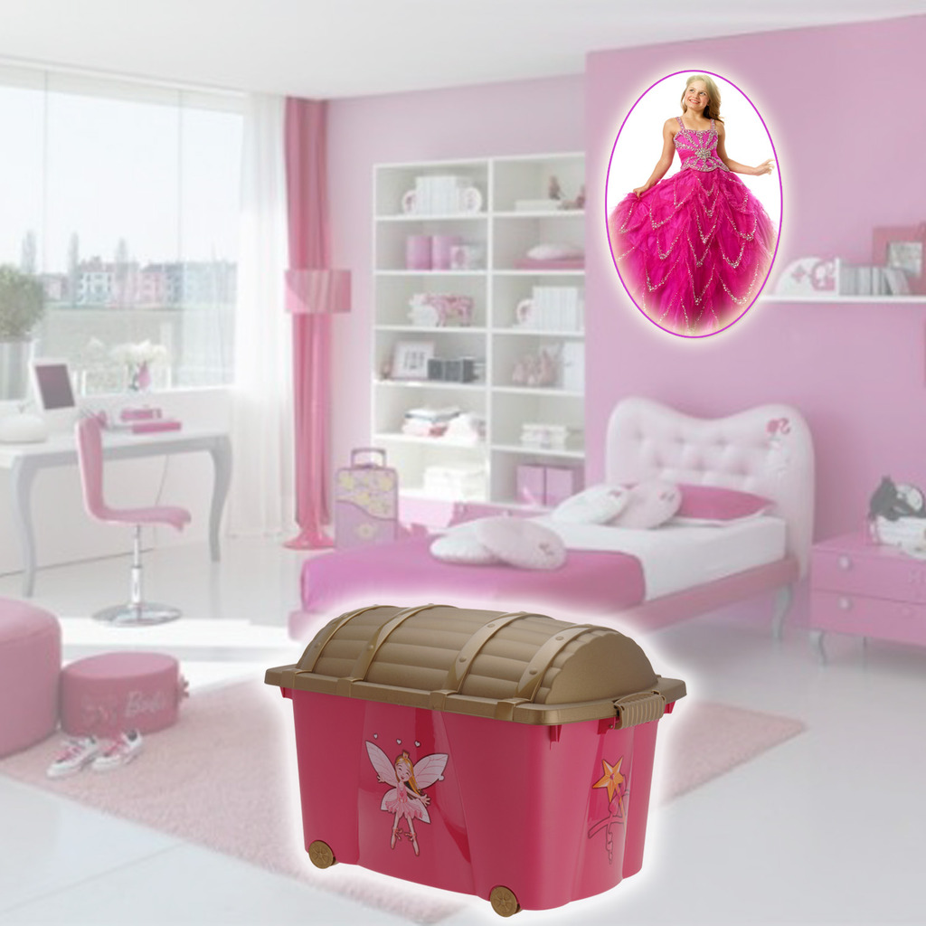 Kids Storage Bench Furniture Toy Box Bedroom Playroom: Princess Toys Box Storage Kids Girls Chest Bedroom Clothes