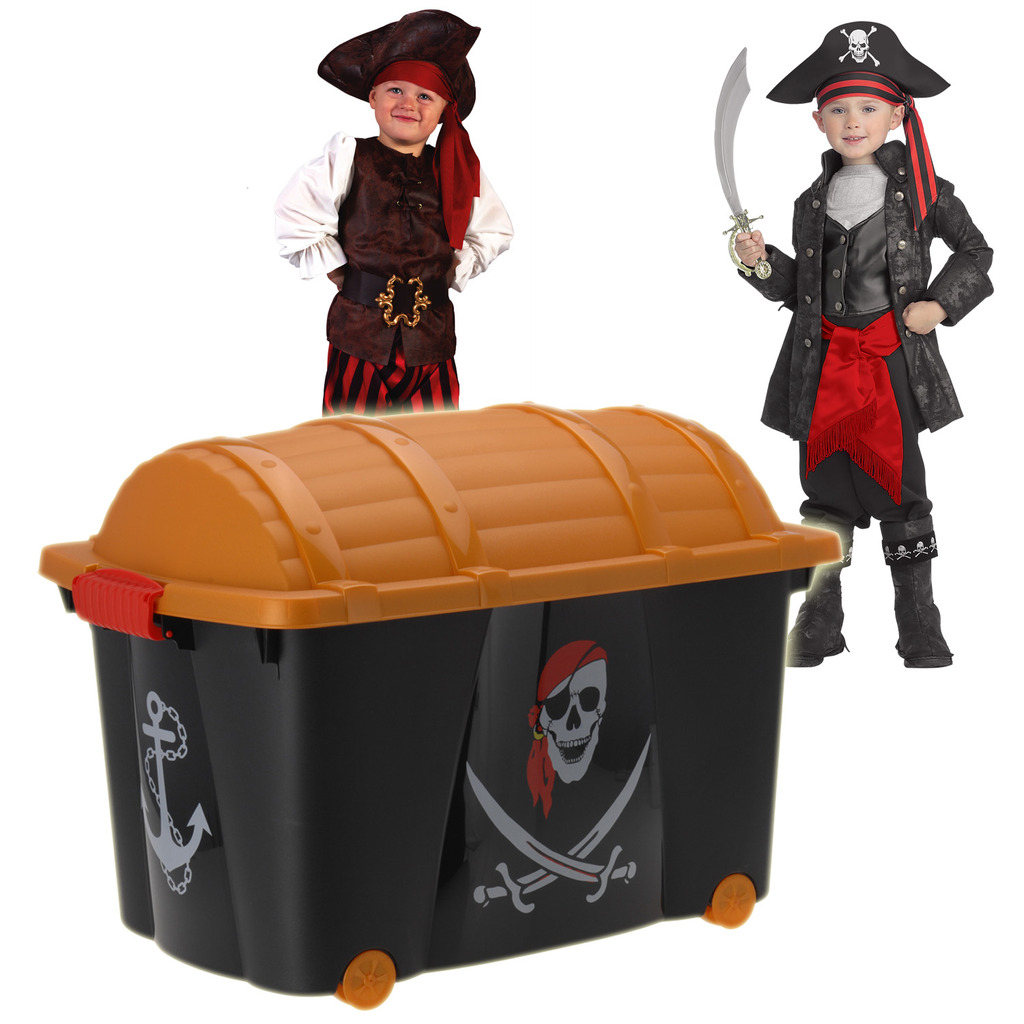 Childrens Kids Bedroom Furniture Set Toy Chest Boxes Ikea: Pirate Toy Box Storage Chest Bedroom Childrens Playroom
