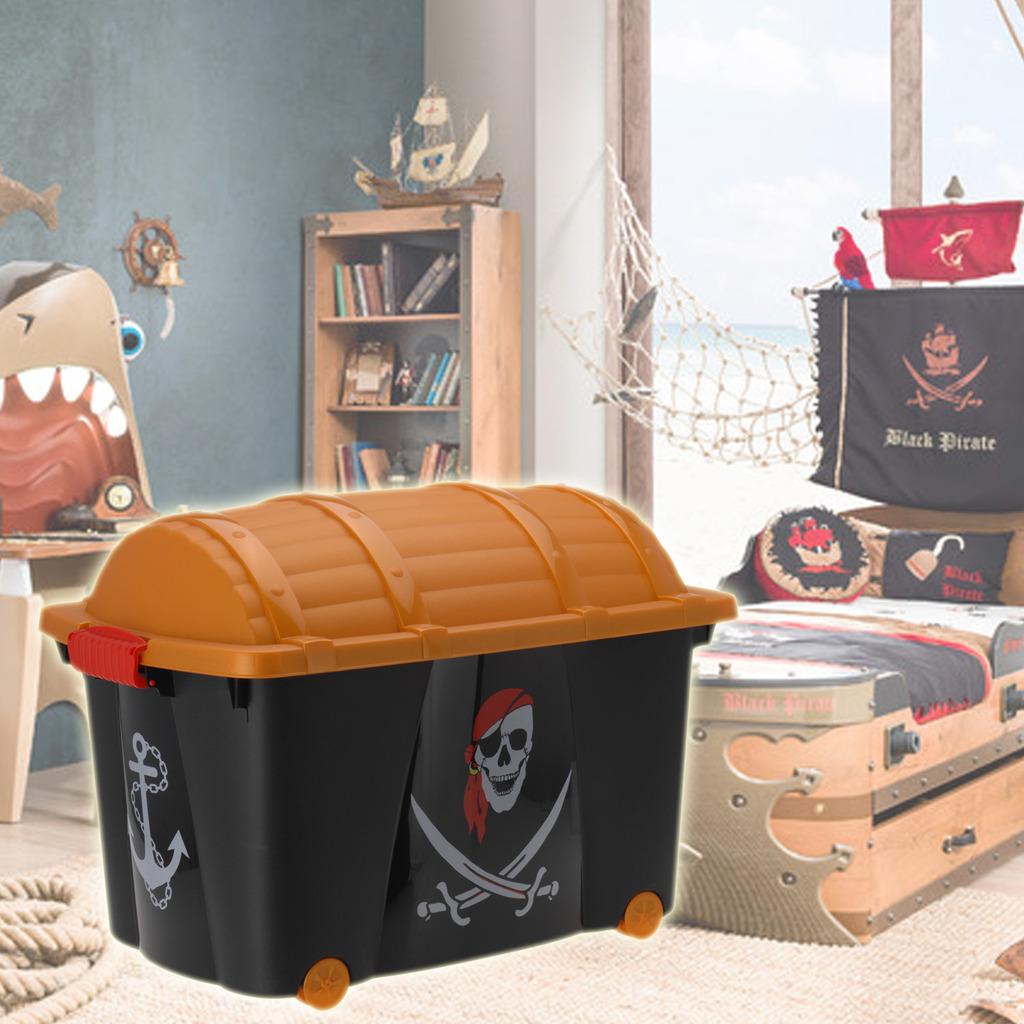 Kids Storage Bench Furniture Toy Box Bedroom Playroom: Pirate Toy Box Storage Chest Bedroom Childrens Playroom