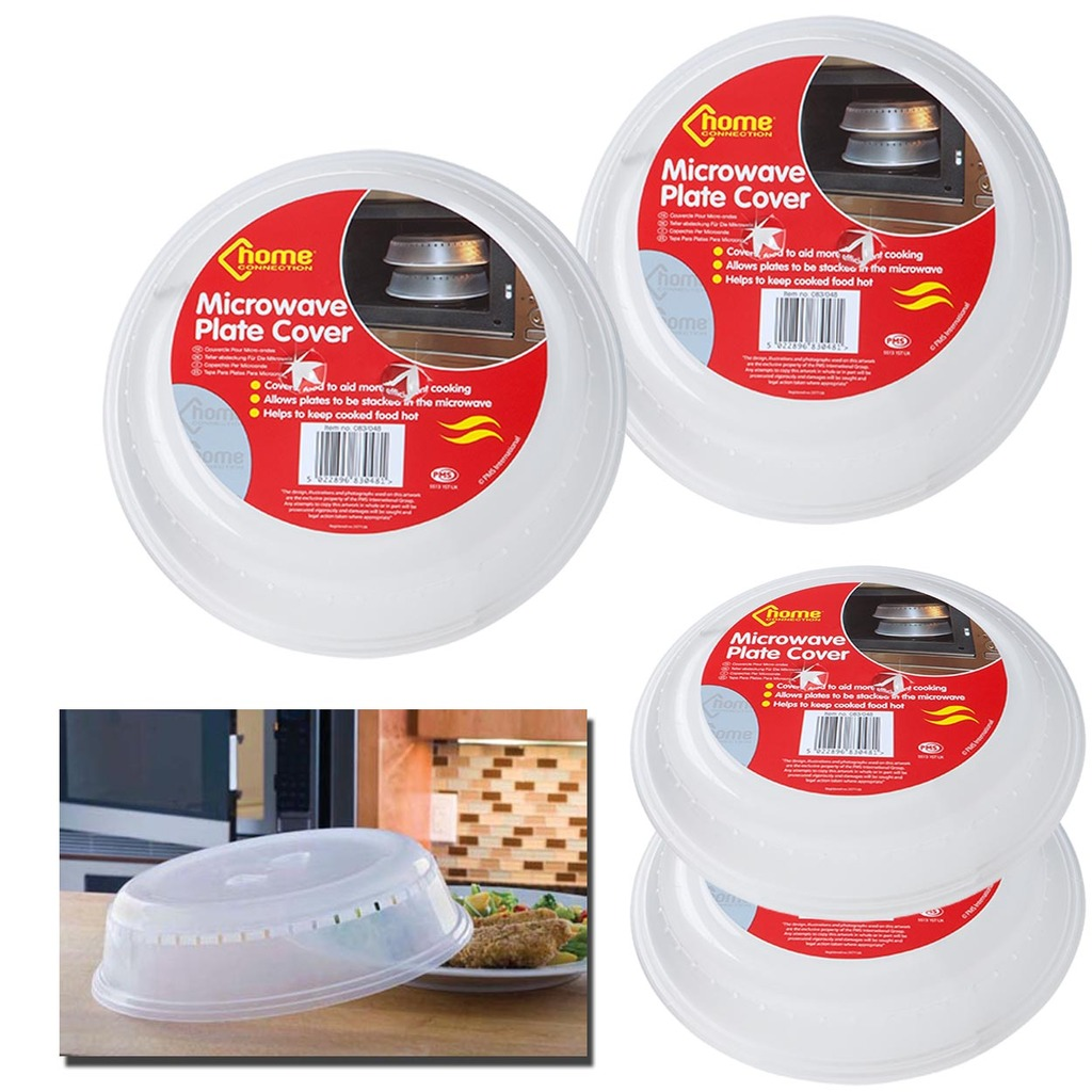 Details About Microwave Food Cover Micro Cooking Lid Clear Hot Plate Ventilated Plastic Dish