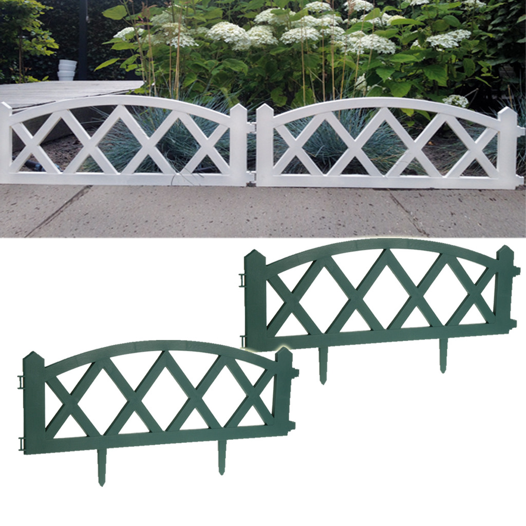 Garden Fence Fencing Edging Picket Grass Lawn Borders