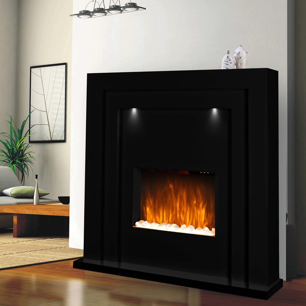 sets black portable log led htm firebox electric goppa conway fireplace