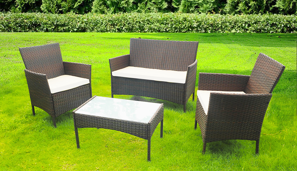 Rattan Garden Furniture Set Patio Conservatory Indoor