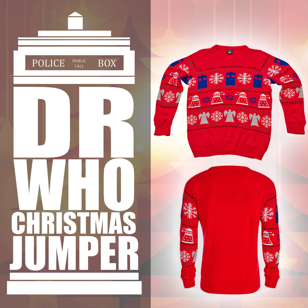 Dr Who Christmas Sweater.Details About Doctor Dr Who Jumper Bbc Official Tardis Daleks Christmas Sweater Collectables