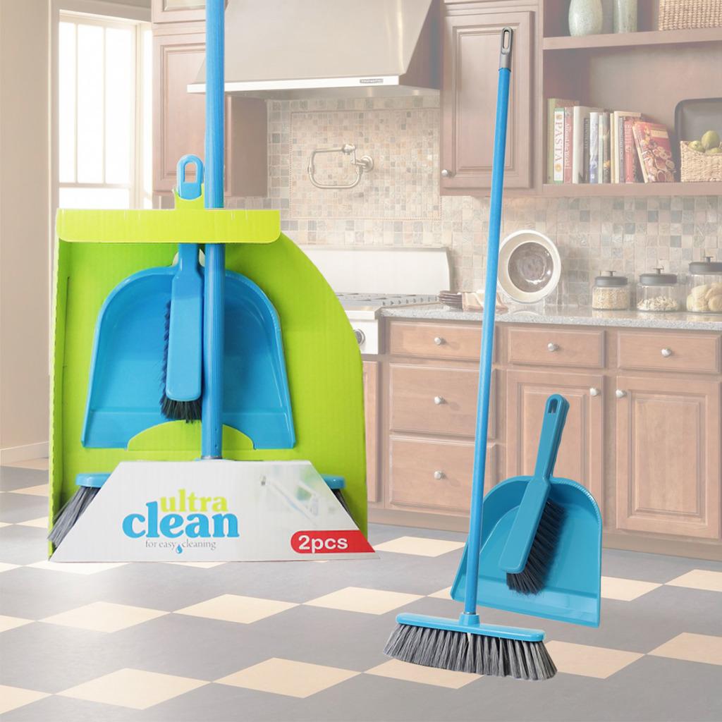Floor Brush Dustpan Set Broom Dirt Sweeping Cleaning Home