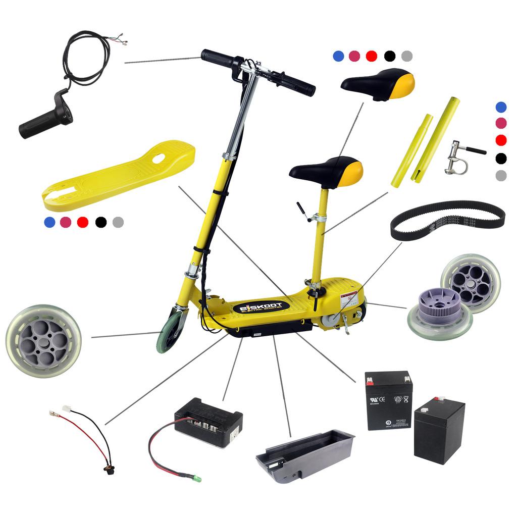 kids electric scooter spare parts battery front back. Black Bedroom Furniture Sets. Home Design Ideas