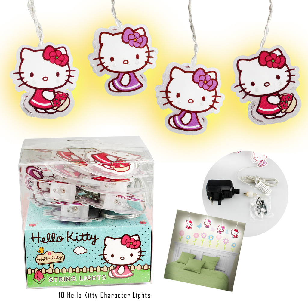 Hello Kitty Lights Bedroom Party Decorations Girls Playroom String
