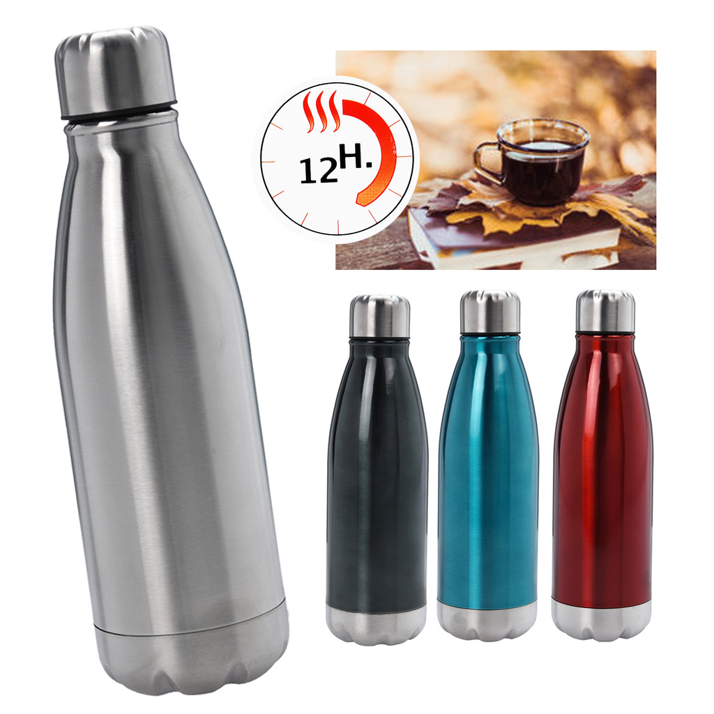 Details about 500ml Stainless Steel Vacuum Flask Travel Thermos Hot Cold  Bottle Lid Insulated