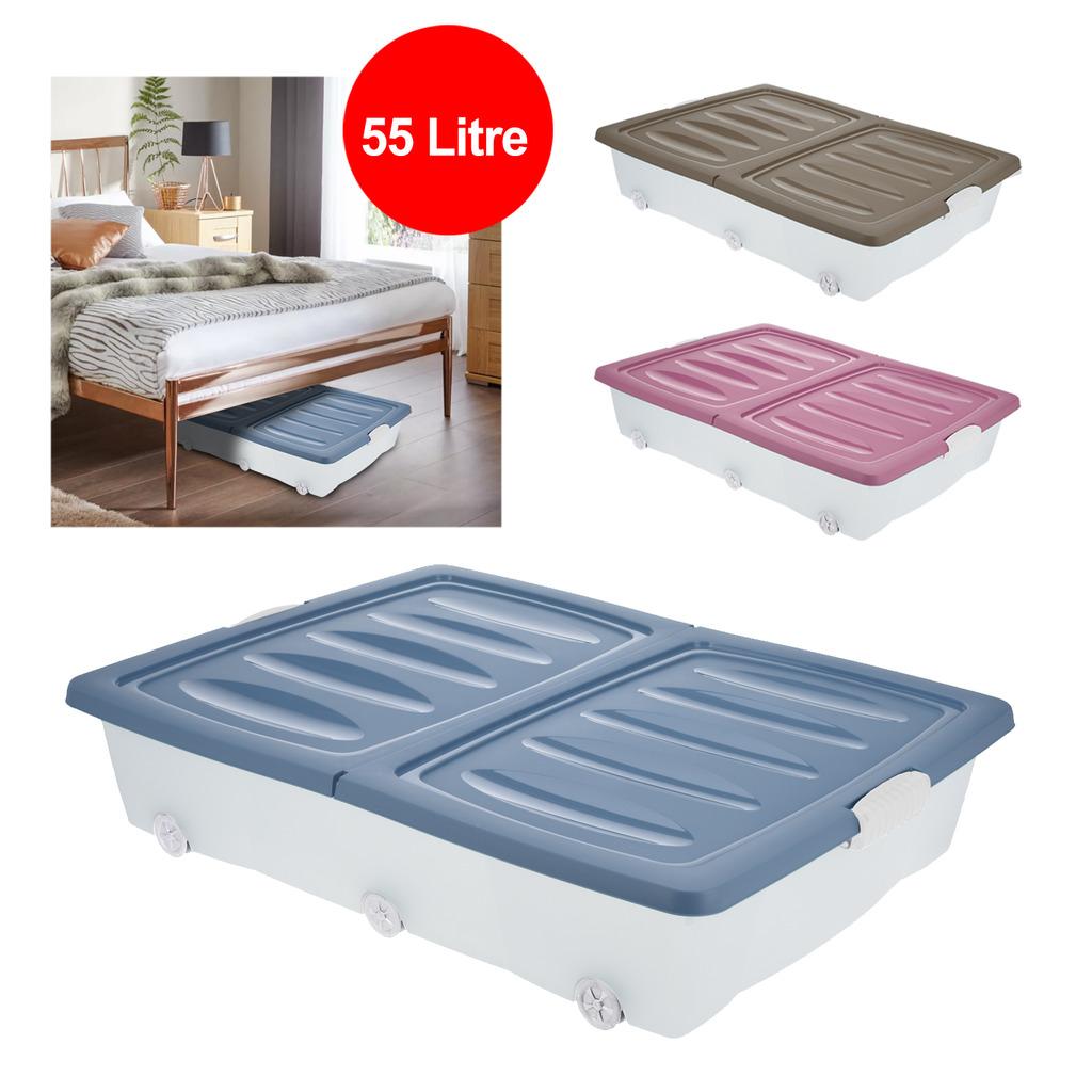 Große Unter Bett Plastik Aufbewahrung Schublade Container Box ...