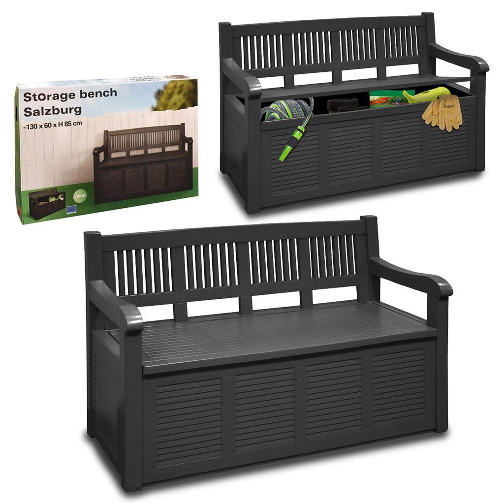 Patio Furniture Garden Storage Bench Outdoor Plastic