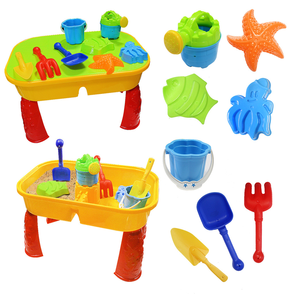 Toys & Hobbies Honesty Kids Sand Pit Set Beach Sandpit Table Water Outdoor Garden Play Spade Tool Toy Play Home Beach Table Toys Discounts Price