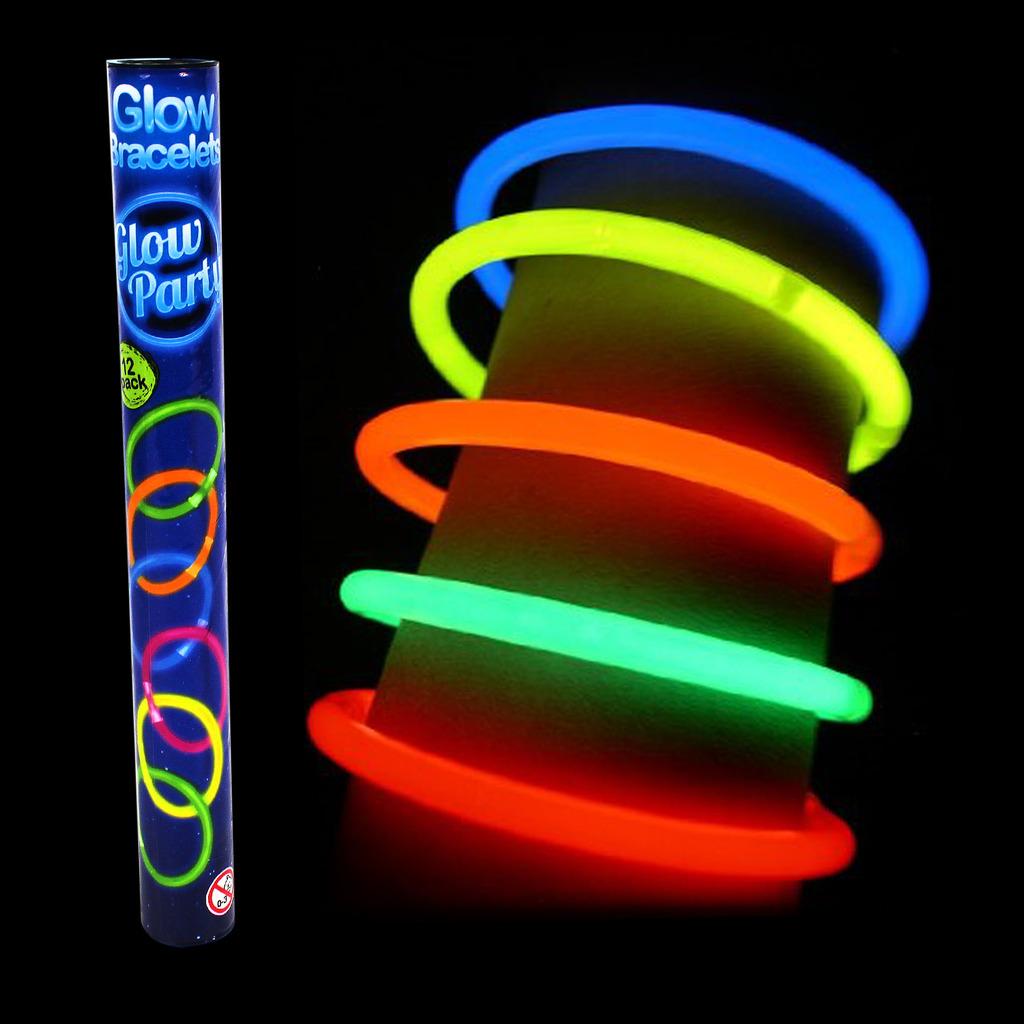 Glow Sticks Glo In The Dark Bracelets Coloured Hen Nights Kids ... 3ef3194e092